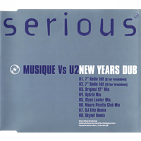 Musique vs. U2 - New Years Dub (UK Promo) - обложка