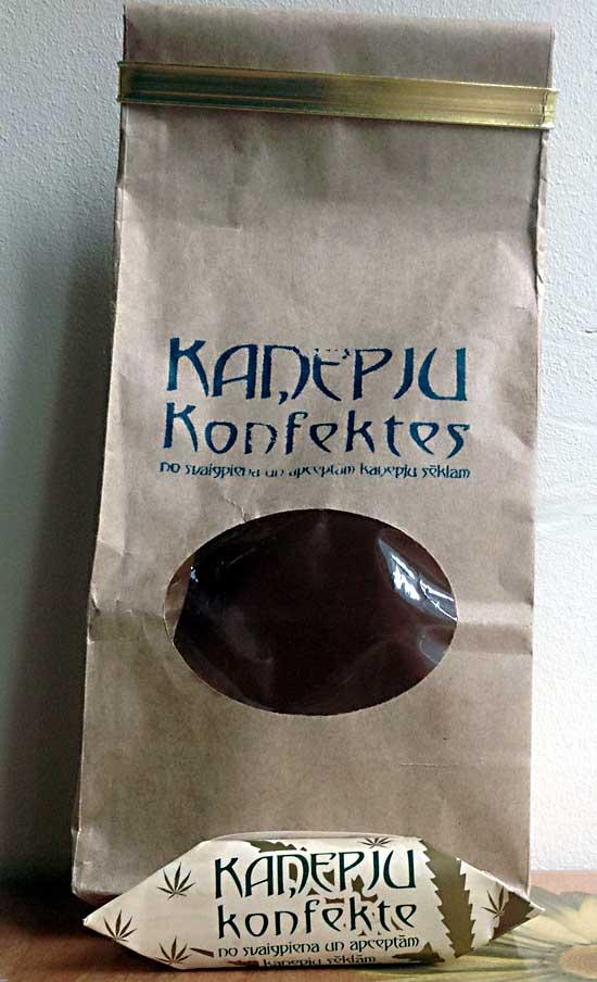 Конопляные конфетки - упаковка