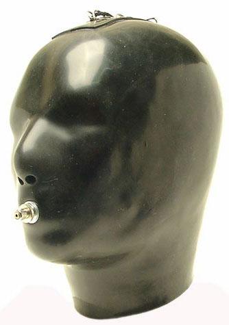 Садо-маска с трубочкой