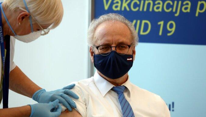Эгил Левит: вакцинирование президента Латвии 2021