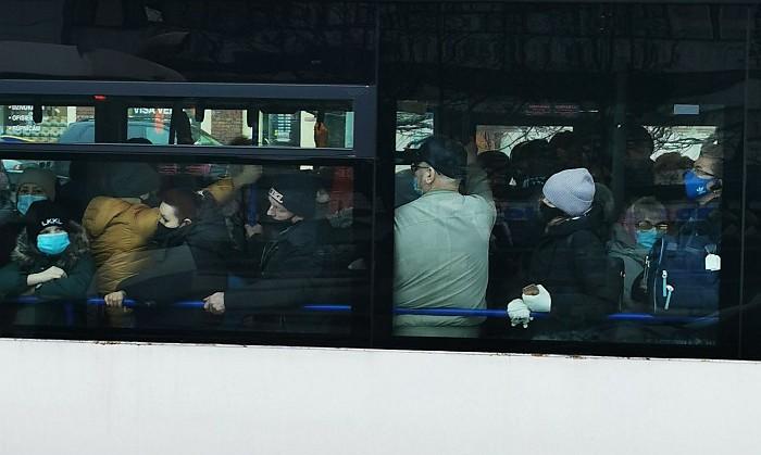Общественный транспорт во время ковидных ограничений